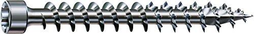 SPAX - Holzbauschraube, 6,0 x 80 mm, 200 Stück, Zylinderkopf, T-STAR plus, 4CUT, Vollgewinde, WIROX P3J - 1211750600805