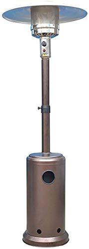 Calor portátil de acero inoxidable Calentador de gas de calentador de patio comercial, estufa de champiñones de gas licuado, 5kW-13kW, protección de seguridad de dumping, adecuado for jardín, gas licu