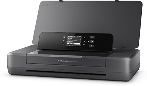 HP OfficeJet 200 Mobile Stampante a Getto di Inchiostro, Display LED, Wi-Fi, Wi-Fi Direct, App HP Smart, USB, Nero