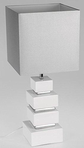 Formano modische Dekorations Lampe in weiß Silber, 70 cm