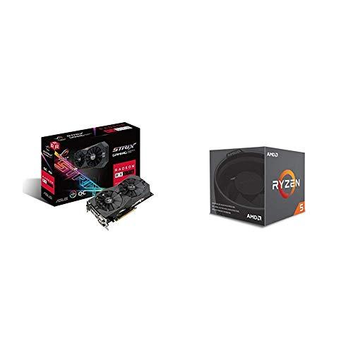 Pack gráfica ASUS y Procesador AMD: ROG-STRIX-RX570-4G-GAMING y R5 2600