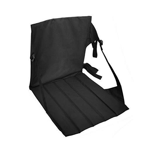 Verve Jelly gepolsterter Bodenstuhl, halbklappbarer Klappstuhl für Bodensitzung, Meditation, Rückenlehne mit Aufbewahrungstaschen Bodensitz für Erwachsene mit verstellbarem Rückenlehnensitz