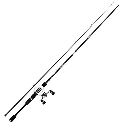KastKing Crixus Fishing Rod and Reel Combo, Baitcasting, 6ft Medium, Left Handed,2pcs