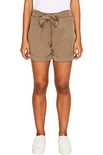 edc by ESPRIT Damen 039CC1C004 Shorts, Grün (Dark Khaki 355), W34(Herstellergröße: 34)