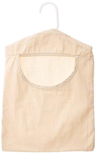 Homz Household Essentials - Borsone per vestiti, colori possono variare, tela di cotone naturale e resistente, design