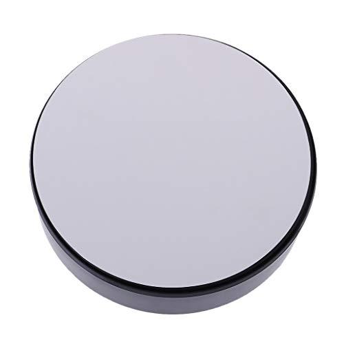 Sqiuxia Motorisierter Drehscheiben-Display, 360 Grad drehbar, für Schmuck, Uhr, Digitales Produkt, Glas, Tasche, Schmuck und Sammlerstücke, verstellbar, batteriebetrieben