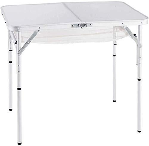Lanrui Mesa plegable ligera al aire libre portátil de aluminio mesa de fiesta con caja de almacenamiento resistente estable duradero antioxidante para acampar viaje senderismo barbacoa silla plegable
