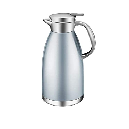 Daily Accessories Insulation Pot Home Stainless Steel Insulated Kettle Hot Water Kettle Thermos 1.8L (Color : Blue)