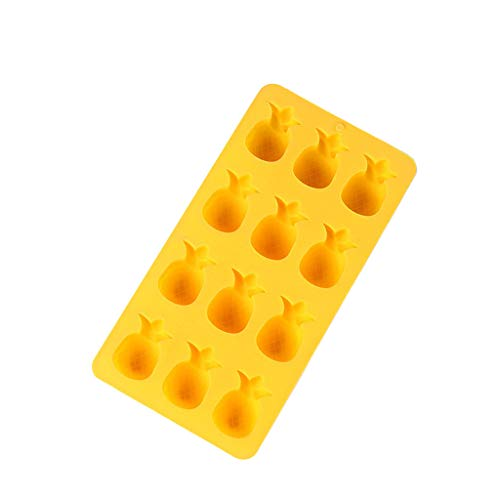 Sttech1 Cute Pattern Ice Cube Maker Ice Tray Storage Containers Ice Cube Mold for Chilling Whiskey, Cocktail Beverages & Making Candy, Cake, Chocolate (Yellow)