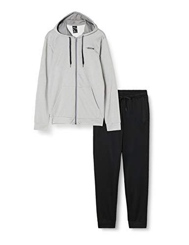 adidas - Chándal con capucha para hombre, talla S, color gris y negro