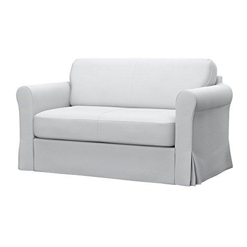 Soferia Replacement Cover for IKEA HAGALUND Sofa-Bed, Fabric Elegance White