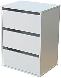 Schubladen Element für Kleiderschränke und Schiebetürenschränke weiss.