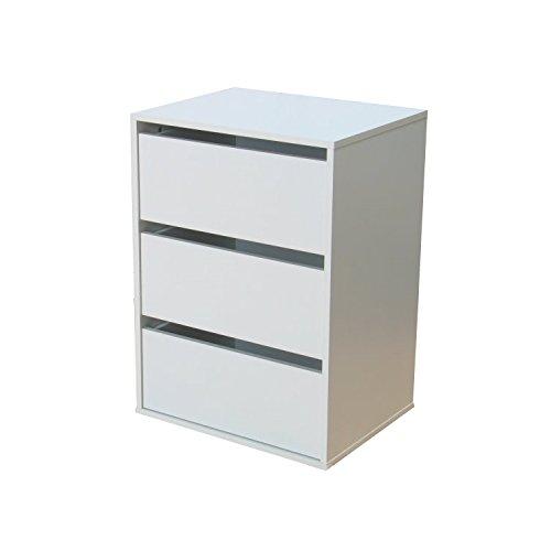 Dynamic24 Schubladenelement für Kleiderschrank Aufbewahrung Schrank Zubehör weiß