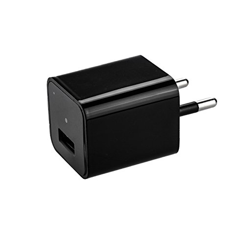 KOBERT GOODS Getarnte Full HD 1080P Ladegerät-Kamera M1B Überwachungskamera für Video-Aufnahme inkl Ton auf Micro SD Karte und Bewegungserkennung oder Daueraufnahme sowie USB Lade-Funktion