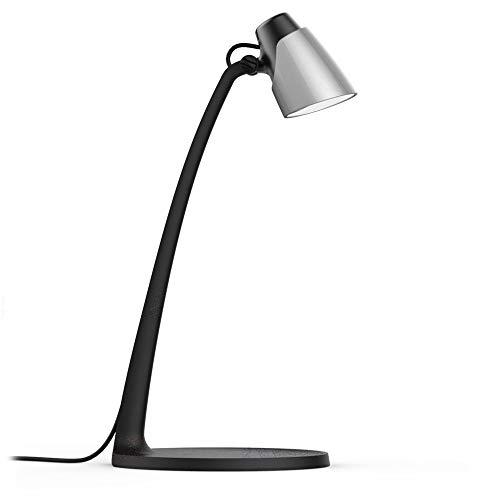 Lampara de escritorio moderno ajustable LED 4,5w 3000k luz calido conlor Negro-champan (NEGRO-PLATA)