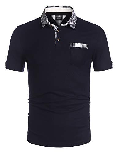 COOFANDY Herren Poloshirt Kurzarm Sommer T-Shirt Men's Polo Shirt Slim Fit Freizeit Sport Polohemd