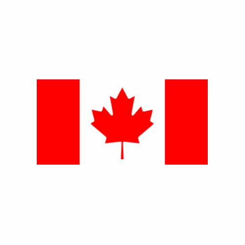 (2x) 7' Canadian Flag Canada Maple Leaf Logo Sticker Vinyl Decals