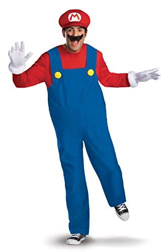 Super Mario Bros Herren Super Brothers Adult Deluxe Costumes, XL