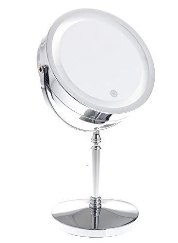 LED make-up spiegel dimbaar met touch-functie, werkt op batterijen + met EU-stekker, 7
