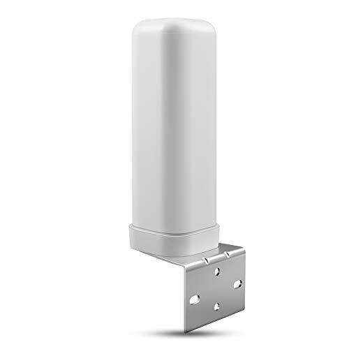 ORPEY Antenna Omnidirectionnelle di 698-2700MHz 3/6dBi LTE 50 ABS Resistente agli Agenti Atmosferici Ohm Antenna Esterna con Connettore SMA per l' Uso Esterno di ripetitore di Segnale Mobile