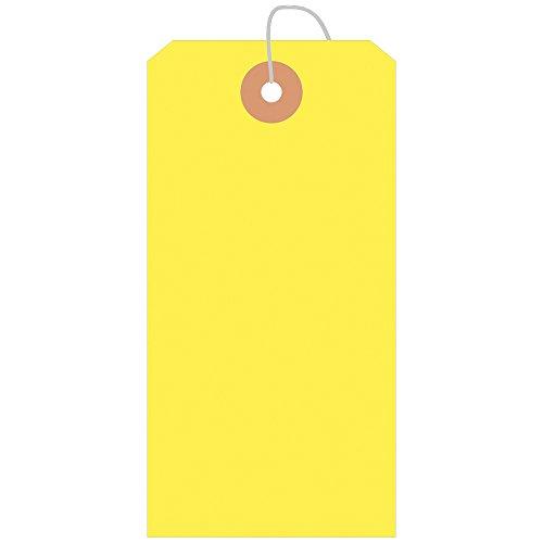 タカ印 タグ 25-2134 荷札B花 縦120mm×横60mm 100枚パック 黄