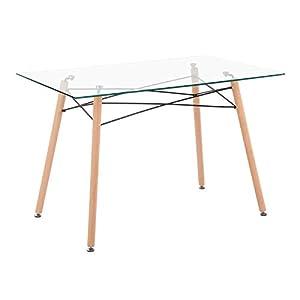 🌓Tavolo Rettangolare -- Dimensioni complessive: 110 x 70 x 72.5 cm, Non è possibile inserire completamente 2 sedie sotto il lato lungo del tavolo, si prega di confermare che la dimensione è adatta prima di ordinare. 🌓Tavolo Scandinavo -- Questo moder...
