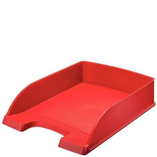 LEITZ 52272025 - Bandeja Plus STANDARD Opaca. Formato vertical color rojo