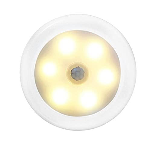 Led-induktionslampa Led Vägg Trådlös Induktion Led Nattlampa Varmt Ljus Med Somatosensory Switch För Rumsdormitry Wireless Induction Night Lamp