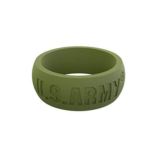 Men's Army Green U.S. Army Classic Q Q2X Silicone Ring Size 10