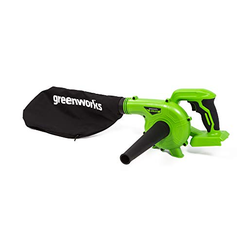 Greenworks 24V Shop Blower, 2Ah USB Battery (Power Bank) and Charger Included SBL24B211