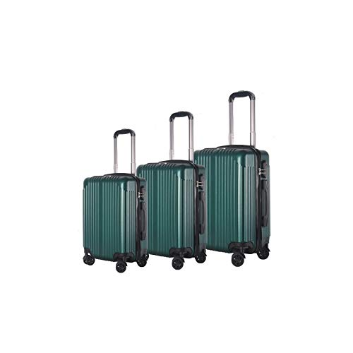BRIO Luggage 3-Piece Hardside Spinner Luggage Set Emerald