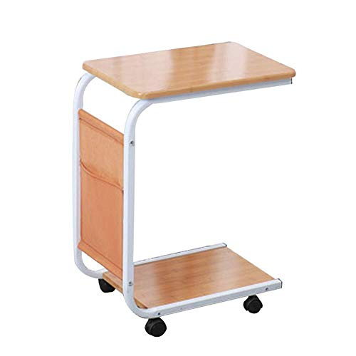 Wangczdz Multifunctionele klaptafel Draagbare Laptop Beugel Bureau Bank Met Pulley Effen Hout Geschikt voor Outdoor Camping Picnic Barbecue Party Table