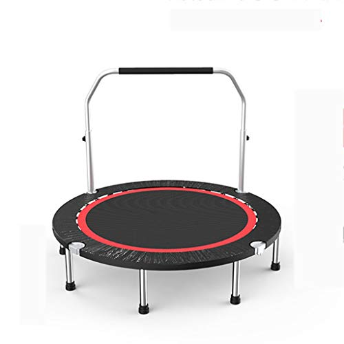 HYM Children's Mini Trampoline With Height-adjustable Stabilizer Bar, Round Adult Fitness Trampoline for Indoor Garden Jumping