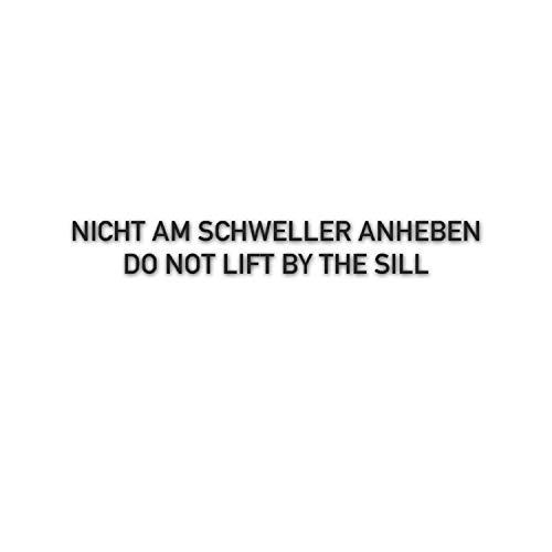 Nicht am Schweller anheben Wagenheber Werkstatt Reifen Winter 15x2cm #A5533
