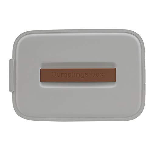Generic YiYour Eine Schicht tragbare Knödelbox, Kühlschrank Ei Aufbewahrungsbox für Home Restaurant,grau
