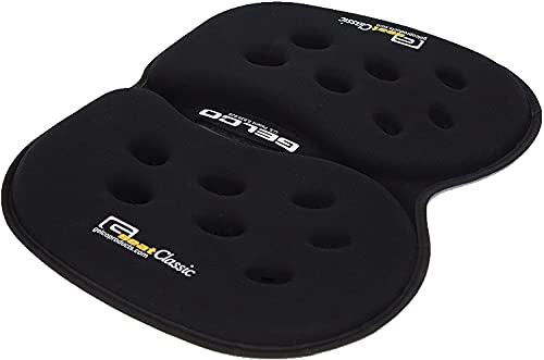 GSeat CLASSIC Gel and Foam Seat Cushion - Use for Chairs, Car, Office, Commute, Airplane, Wheelchair - Portable - Relieve Sciatica, Coccyx/Tailbone & Chronic Back Pain Relief - Ergonomic Comfort - Long Lasting (Black)