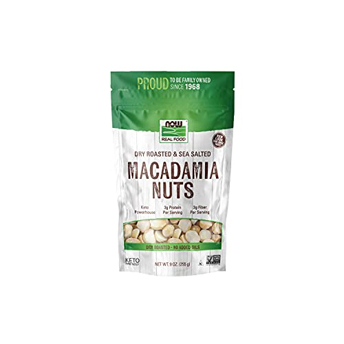 NOW Foods, Macadamia Nuts, Dry Roasted with Sea Salt, Source of Fiber