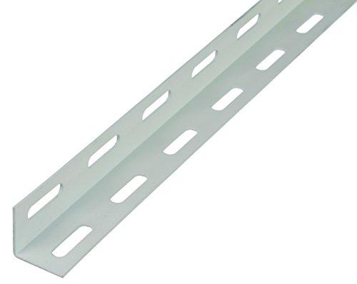 GAH-Alberts 432102 Winkelprofil - Stahl, weiß kunststoffbeschichtet, 1000 x 27 x 27 mm