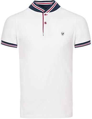 CARISMA Casual Classic Herren Poloshirt Kurzarm T-Shirt Polo-XXL-Weiß