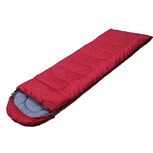 Saco de dormir para una sola persona con cremallera para senderismo, camping, traje impermeable