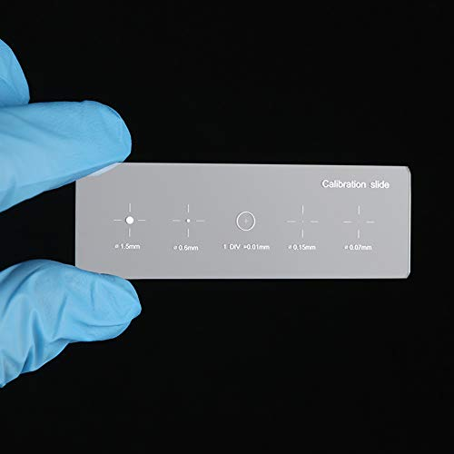 5 in 1 Multifunctional Microscope Calibration Slide, 5 Graduated Scales 1.5MM 0.6MM, 0.01MM, 0.15MM, 0.07MM