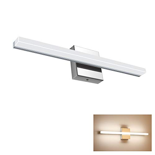 Vanity Light 12W 19.88inches LED 4000K Natural White Acrylic Chrome Rectangle Tube for Bathroom/Bedroom YHTlaeh Vanity Light