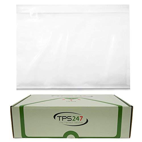 100x TPS247 Lieferscheintaschen - Dokumenttaschen DIN C5 für A5 transparent selbstklebend (100)