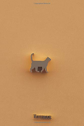 3D Cat Notebook Journal, Ideal and Cute Gift for Everyone: This Notebook is 3D Cat and Letters Golden Design with the background gold. Paper Journal ... all Will Love (3D Cats with Gold Lettering)