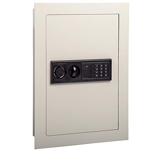 FDW Home Security Lock Gun Box Electronic Digital Flat Recessed Wall Safe