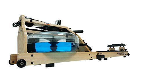 Miweba Sports Wasser-Rudergerät MR700 - Echtholz-Rudermaschine - Klappbar Wasserwiderstand & -Tank - LCD-Display (Esche hell)