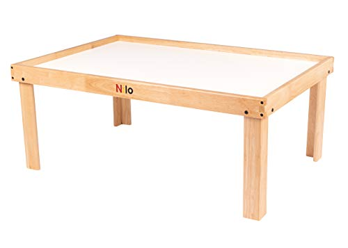 NILO N51N Kid's Play Table Compatible with Legos, Duplo, Trains, Games, Building, Lincoln Logs Safe Fun for Children Educational Toy Board Durable (No Holes, 32x48x20)