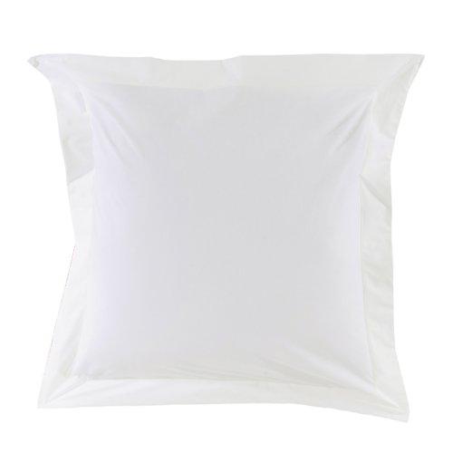 Essix - Taie d'oreiller Royal Line Percale de Coton Blanc 65 x 65 cm