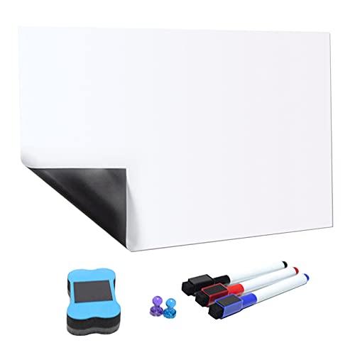 Sharplace Pizarra Blanca Magnética Suave Autoadhesiva para Niños, Dibujo, Escritura con Rotulador Y Borrador para Sala de Juegos para Niños Pequeños - 420x297 mm