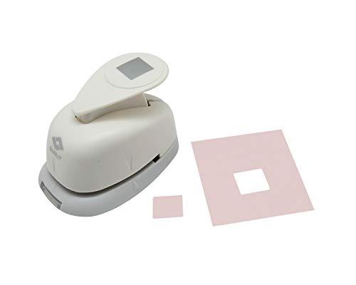 Bira - Perforadora de mano cuadrada de 7/16 x 7/16 pulgadas para manualidades de papel, manualidades y álbumes de recortes (5/8 pulgadas cuadradas medidas en diagonal)